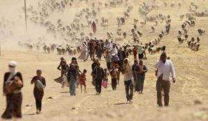 Libia-Migranti in cammino (fonte Internet)