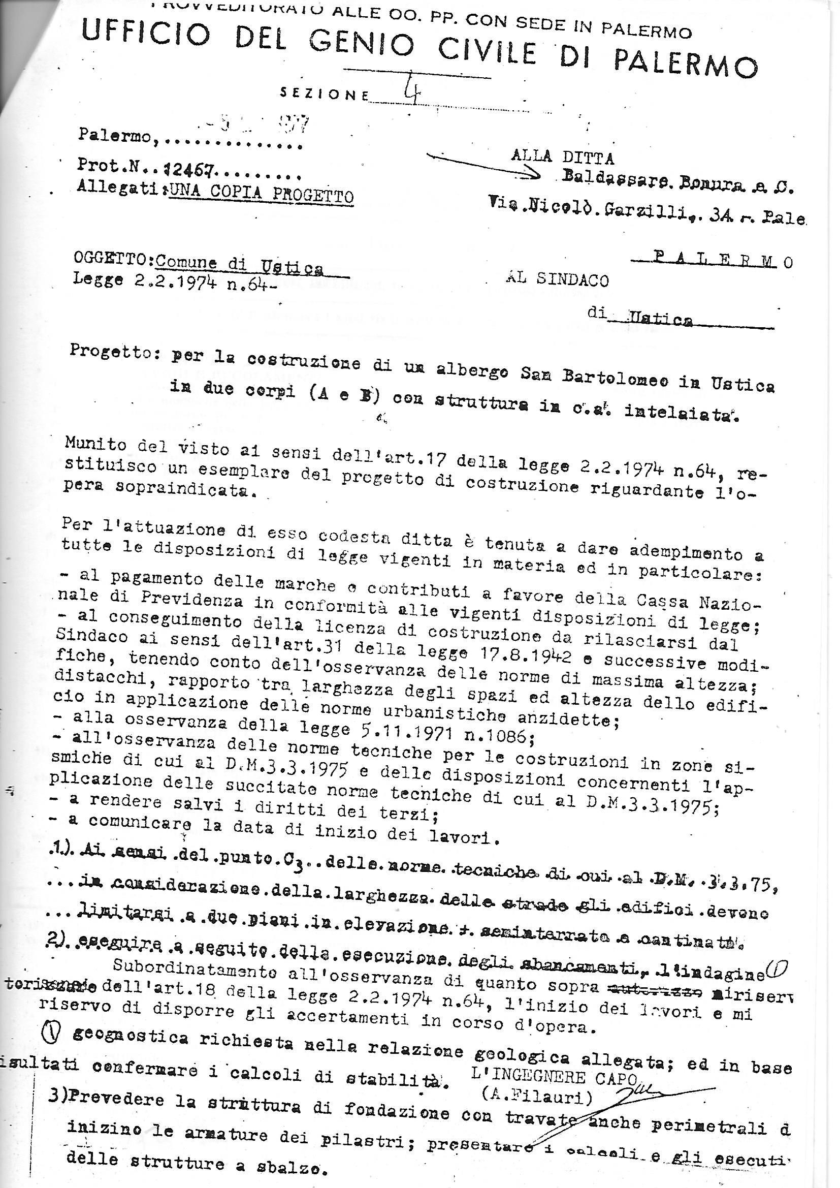 AVV MELI richiesta annullamento in autotela dell' ORDINANZA 22 1981