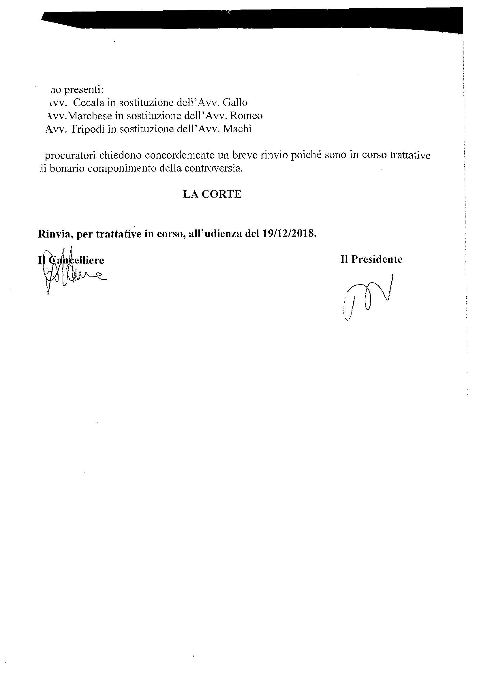Pagine da Querela di Falso rinvio per trattative 19 settembre 2018 pag 2