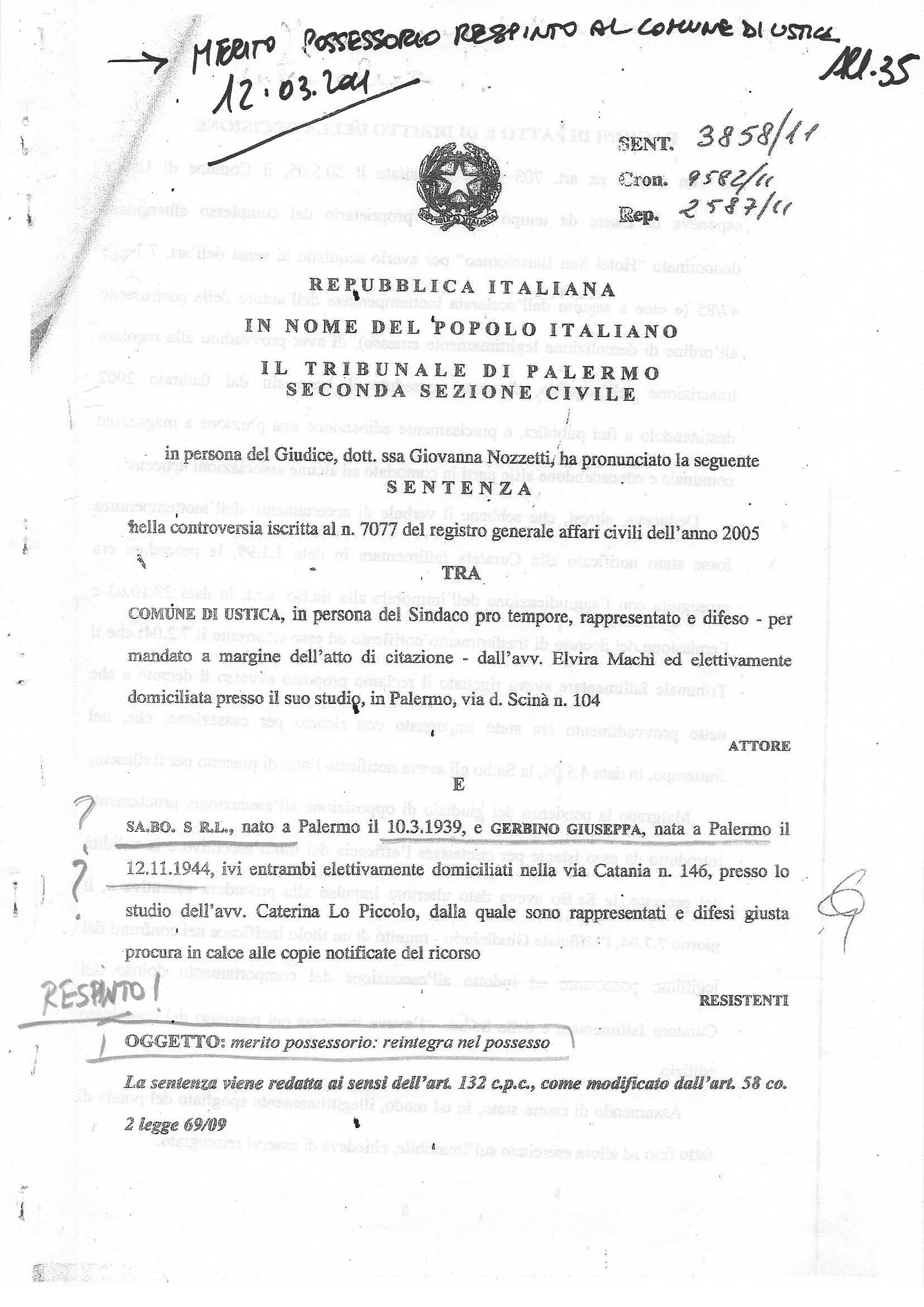 Pagine 1 sentenza Nozzetti 2011
